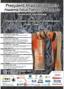 plakat - Międzynanrodowe Sympozjum Rzezbiarskie